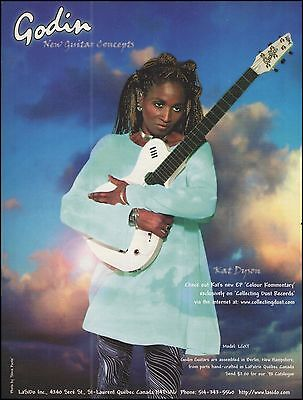 Kat Dyson (Prince and The New Power Generation) Godin LGXT guitar 8 x 11 ad