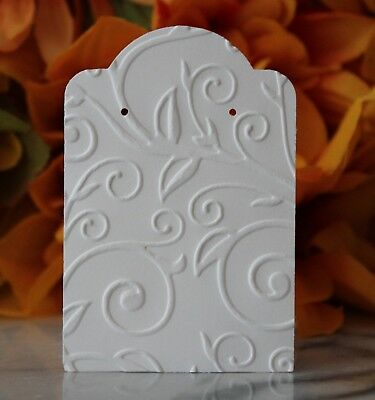 25 White Swirl Earring Cards, Jewelry Cards, Craft Show or Retail Display Cards