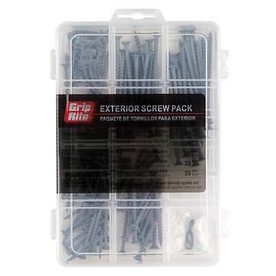 Grip Rite MPPG10 Outdoor-Use Screws Assorted Sizes 115 pc Set