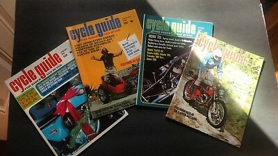 Lot of 4 vintage magazines CYCLE GUIDE 1968 Nice lot!