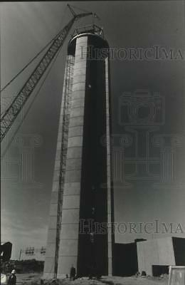 1985 Press Photo Construction on New Control Tower at Milwaukee's Mitchell Field