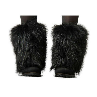 Boot Cuff Fluffy Soft Furry Faux Fur Leg Warmers Boot Toppers Costume Cosplay