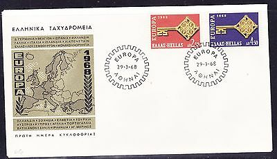 Greece 1968 Europa  First Day Cover Unaddressed