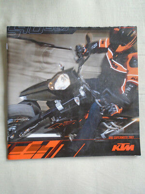 KTM 690 Supermoto motorcycle brochure 2007 English text