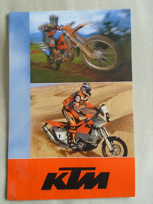 KTM range motorcycle poster brochure 2003 English text