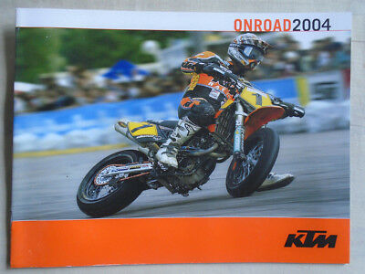 KTM Onroad motorcycle brochure 2004 English text