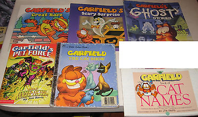 preowned garfield comic style Books, coloring,hard covers, soft, JIM DAVIS