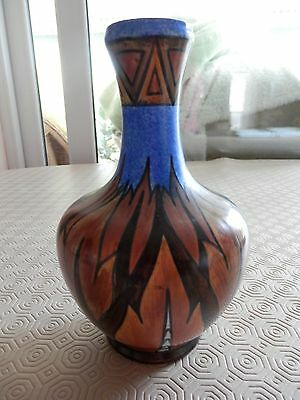 "CHAMELEON ""Blue Flame"" Vase-Clews pottery"