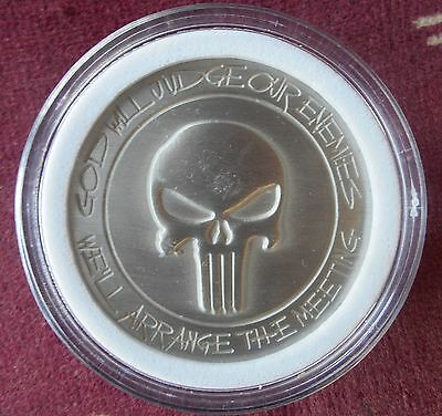 Punisher Challenge Coin Defending American Flag Collectible Novelty Memorabilia