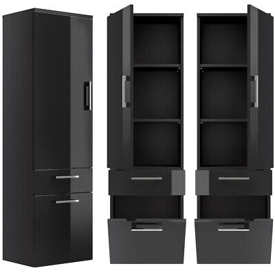 badezimmerschrank unterschrank hochglanz anthrazit badm bel h nger badschrank eur 109 00. Black Bedroom Furniture Sets. Home Design Ideas