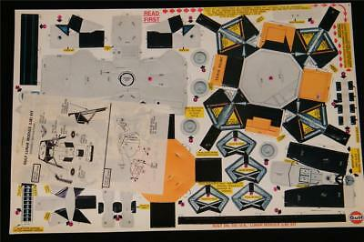 1969 APOLLO 11 Vintage GULF OIL LUNAR MODULE Punch-Out Cardboard Kit UNUSED