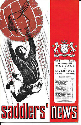Walsall V Liverpool - Fa Cup 4Th Round Fixture 1968