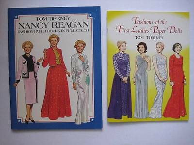 Fashions of the First Ladies & Nancy Reagan Paper Dolls Dover Tom Tierney