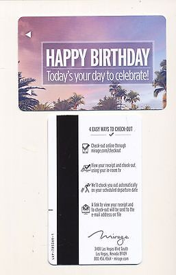 "MIRAGE---""HAPPY BIRTHDAY""---Las Vegas,NV--Room key"