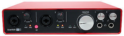 Focusrite SCARLETT 6I6 2nd 192kHz USB Audio Recording Interface+Pro Tools First