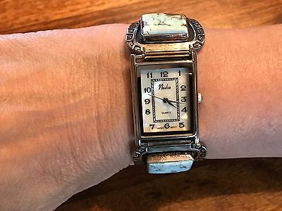 T2: Freddy Charley  Signed Sterling Silver & Turquoise Nadia Watch