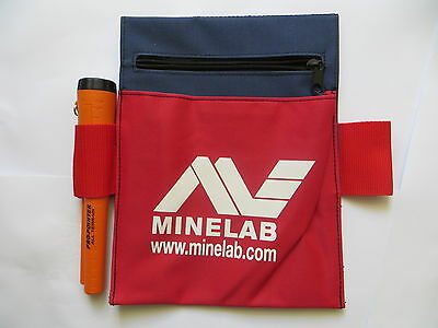 New MINELAB TOOL & TREASURE Trash POUCH BAG FOR METAL Zipper Pocket Tough Canvas