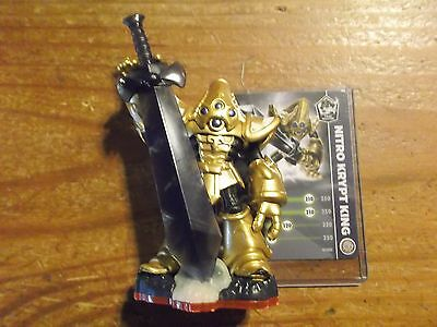 Skylanders Trap Team Master  * Nitro Krypt King *  And Stat Card * Used *10 Day
