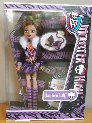 CLAWDEEN WOLF & CROISSANT journal poupée Monster high Ghost 2012 MATTEL BBC66
