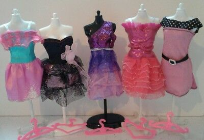 Barbie Steffi Liv Fashion Doll Dresses Clothes Hangers Bundle Lot 02