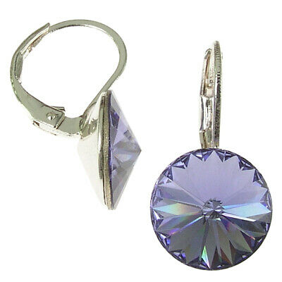 10mm Earring with Swarovski Elements, Colour: Tanzanite, Violet
