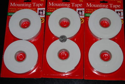 Lot Of 6 Rolls Double Sided Foam Mounting Tape Free Shipping