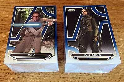 2017 Star Wars Galactic Files Reborn Complete 200 Card Blue Parallel Set Rare