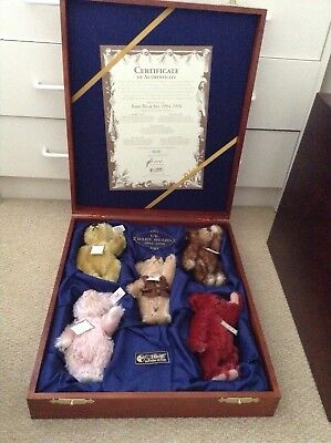 Steiff Baby Bear Set 1994-1998 Collectable And Very Rare .