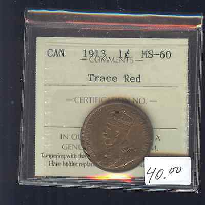 1913 Canada Large Cent ICCS Certified MS60 A149