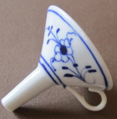 Lovely Early Vintage Porcelain Funnel Flo Blue Color Small Size Early Pharmacy