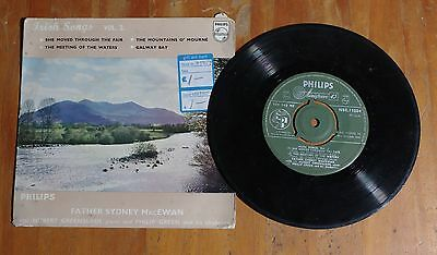 "'Irish Songs Vol 2' FATHER SYDNEY MacEWAN 7"" vinyl single EP Philips NBE 11084"