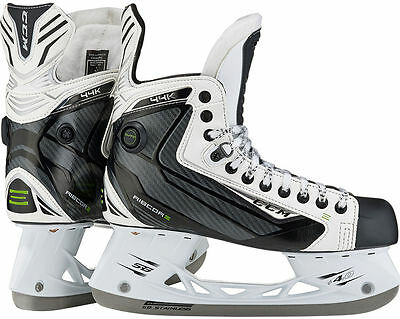 NEW IN BOX 2017 CCM Ribcor 44K White Sr Size 8D Ice Hockey Skates *IN STORE NOW*
