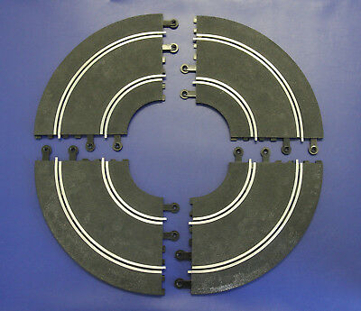 Vintage SCALEXTRIC Classic PT56 90 Degree R1 Radius 1 Double Inner Curves (x4)