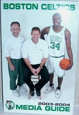 2003-2004 Boston Celtics Media Guide