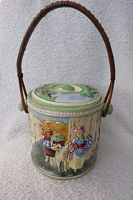 Vintage Marumon Japanese Biscuit Barrel