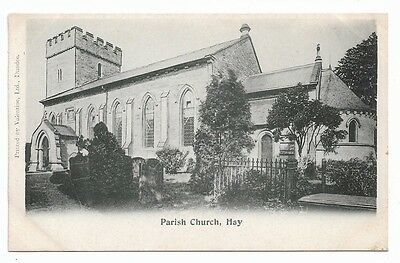 [6449] Wales B/W Postcard Parish Church Hay