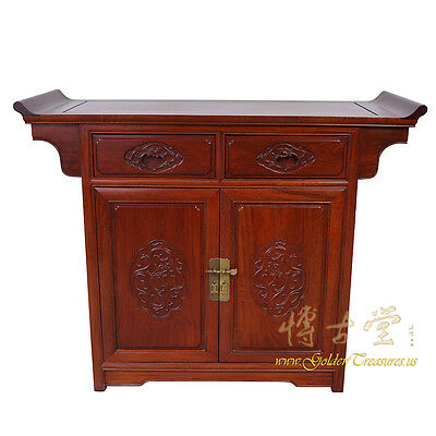 Vintage Chinese Rosewood Altar Cabinet/Sideboard 16LP59