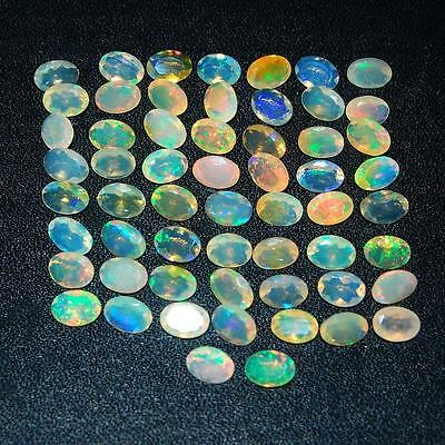 26.32 Cts/58 Pcs Certified Natural Ethiopian Welo Opal Flashy Facetted Gemstones