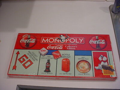 new,sealed Monopoly Coke Coca Cola Collector's Edition Board Game 1999 FREESHIP