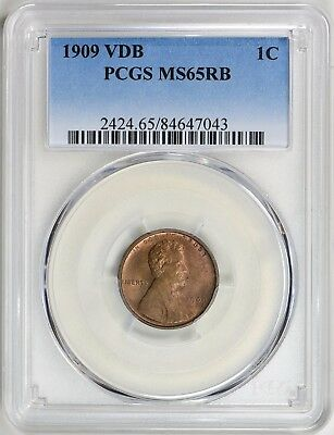 1909 Lincoln Cent V.D.B. PCGS MS-65 RB #WC7043