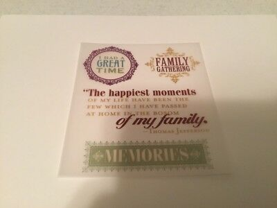 Vellum Family Assorted Sayings #4