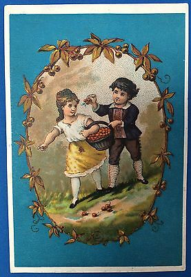1880s KING CEREAL Oats Wheat Hominy Grits Victorian Advertsng TRADE CARD Chicago