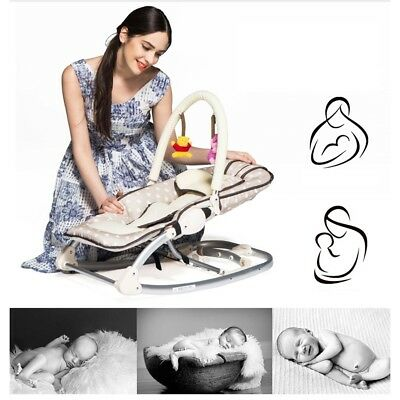 Baby Rocking Chair Cradle Bed Chair Comfort Lounge Chair 78*40*45cm Easy to Use