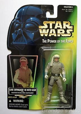 Star Wars POTF Green Card ~ LUKE SKYWALKER in Hoth Gear ~ 1996 Figure ~ Unopened