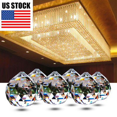 10X 20mm Crystal Ball Prism Lighting Pendant Hanging Lamp Parts Home Acces