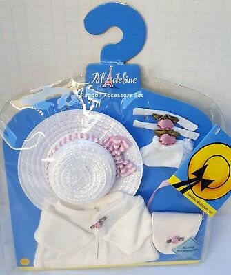 """New Madeline Plush Doll Outfit Ragdoll Spring Accessories Hat Sweater Bag 15"""""""