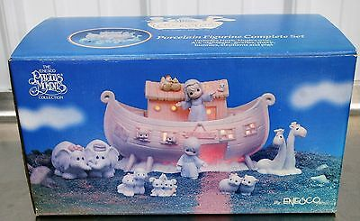 Vintage BRAND NEW Precious Moments Two By Two The Noah's Ark Story Complete Set!