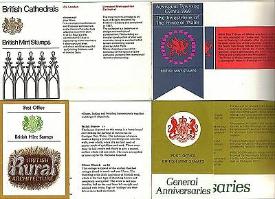 1969-1970 Great Britian stamp pack folders: but no stamps