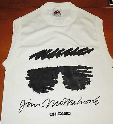Collectors Jim McMahon Sleeveless Tee from Chicago Restaurant adult size small
