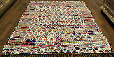 * REDUCED * BOHO   Style Cotton    Rug   * 2  m  x  1.4  m *   BRAND NEW